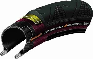 Continental Grand Prix 4 Season Road Bike Tire - Vectran Puncture Protection, DuraSkin Sidewall Protection, All Season Replacement Clincher Tire