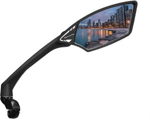 MEACHOW New Scratch Resistant Glass Lens,Handlebar Bike Mirror, Rotatable Safe Rearview Mirror