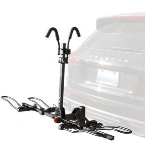 BV 2-Bike Bicycle Hitch Mount Rack Carrier for Car Truck SUV - Tray Style Smart Tilting Design