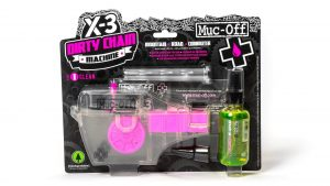 Muc Off X-3 Dirty Chain Machine - Bicycle Chain Cleaning Device for A Deep and Effective Clean - Includes 75ml Bio Drivetrain Cleaner Bottle