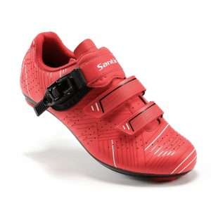 Santic Cycling Shoes Men's or Women's Road Cycling Riding Shoes Spin Shoes with Buckle- Roadway