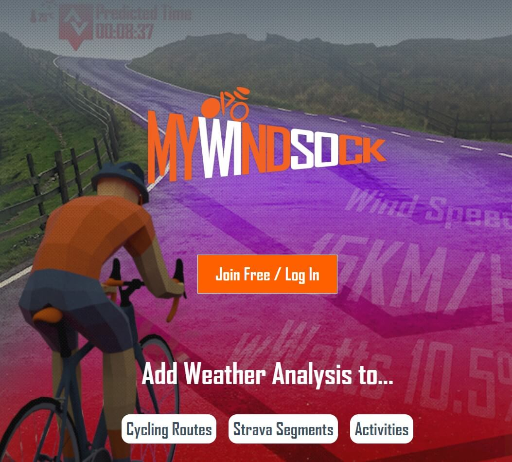 mywindsock cycling app
